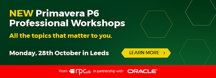 Applied Oracle Primavera P6 Professional Workshops, 28th October in Leeds